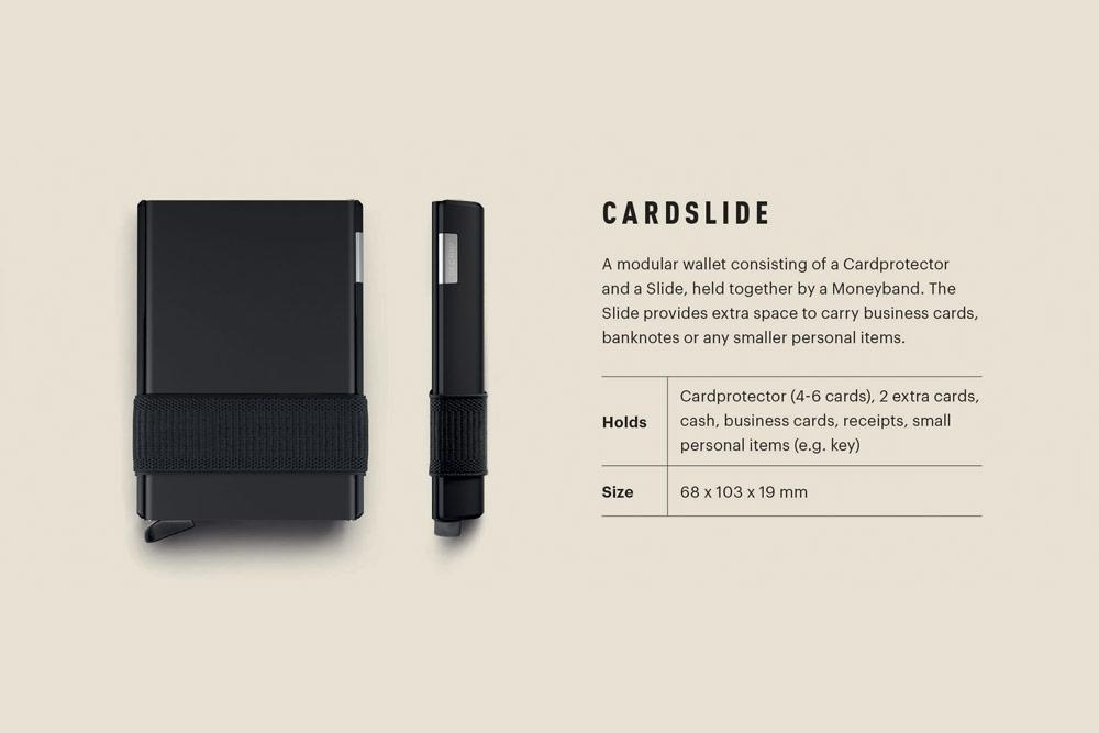 Secrid — Cardslide — bezpečnsotní pouzdro s ochranou RFID čipů platebních karet
