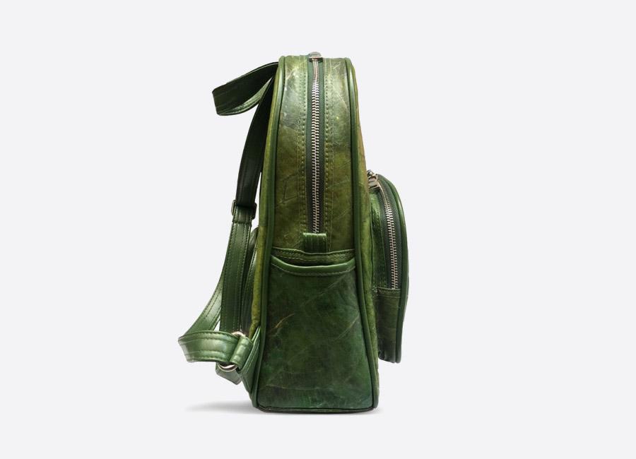 Thamon London — batoh z listů — černý — veganský — green vegan leaf backpack — fashion