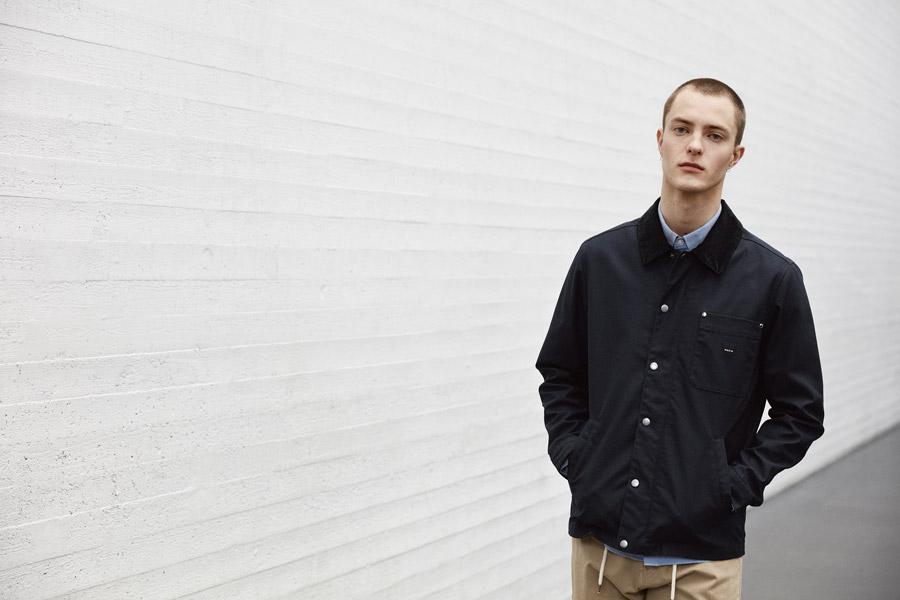 Makia — pánská černá jarní bunda bez kapuce — jaro 2018 — pánské oblečení