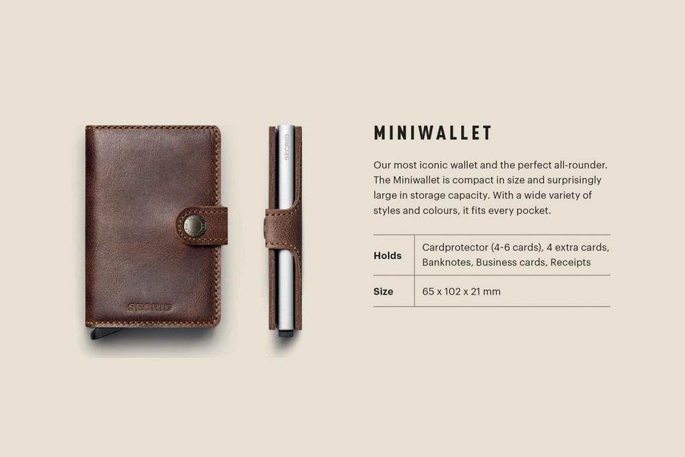 Secrid — Miniwallet — bezpečnostní kožená peněženka s ochranou RFID platebních karet — RFID cards safety wallet