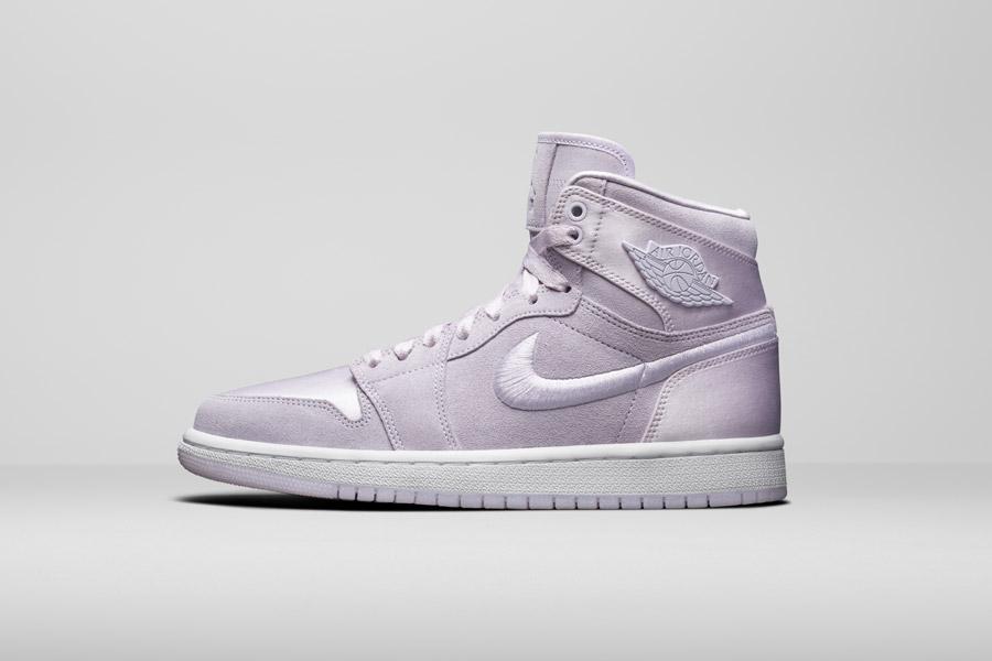 Nike Air Jordan 1 Retro High — kotníkové boty — dámské tenisky — světle fialové — women's sneakers — light purple