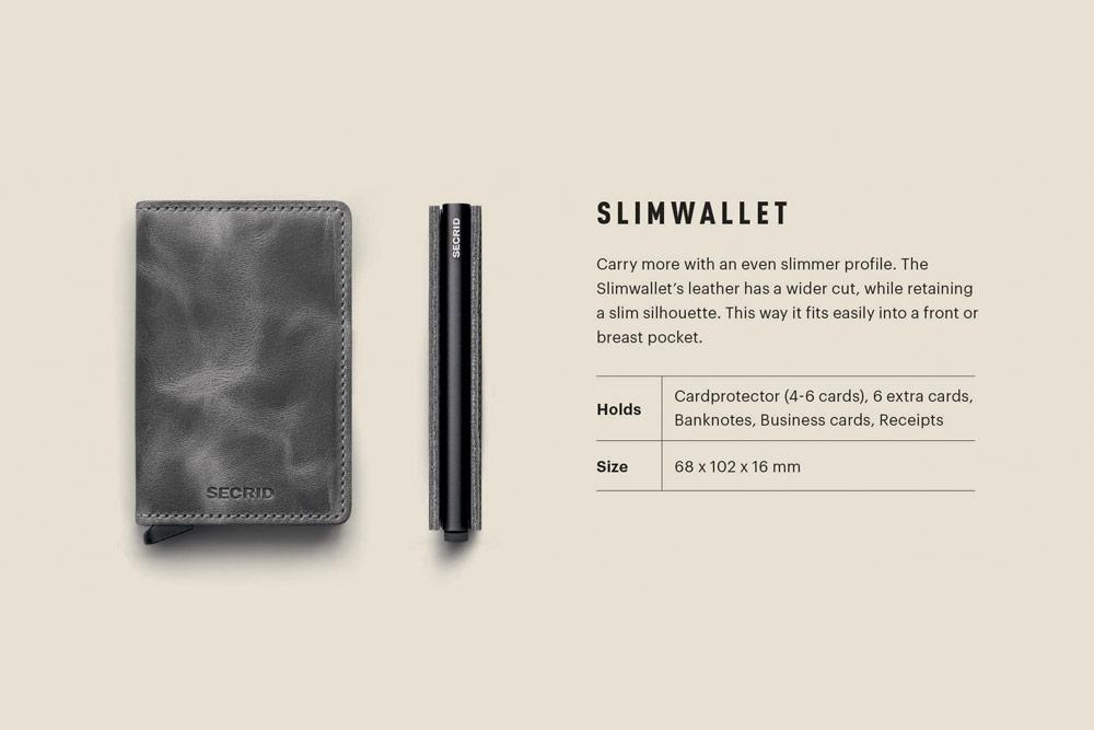 Secrid — Slimwallet — bezpečnostní kožená peněženka s ochranou RFID platebních karet — RFID cards safety wallet