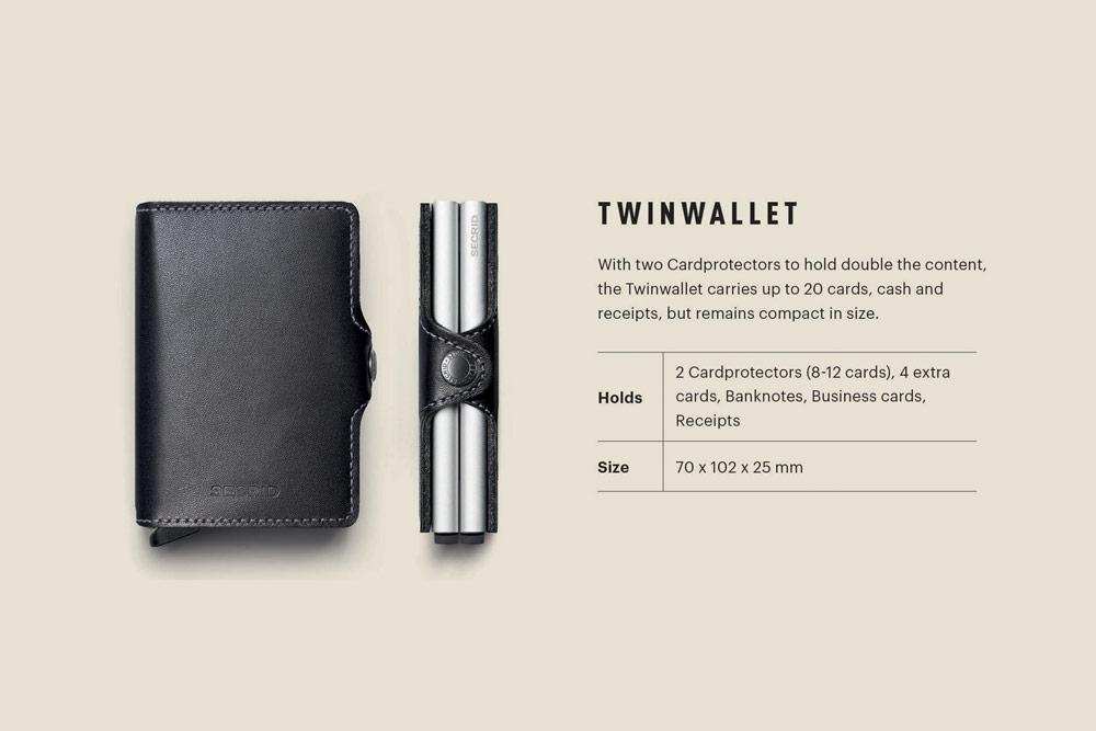 Secrid — Thinwallet — bezpečnostní kožená peněženka s ochranou RFID platebních karet — RFID cards safety wallet