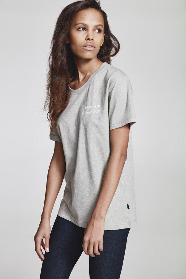 Makia — dámské šedé tričko — jaro 2018 — dámské oblečení