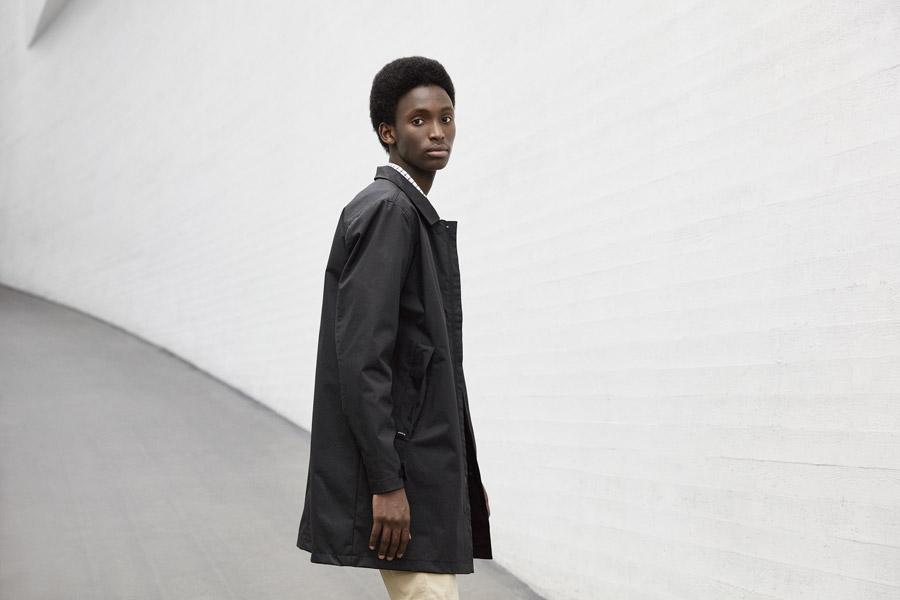 Makia — pánská černá bunda s límcem — jarní kabát — jaro 2018 — pánské oblečení