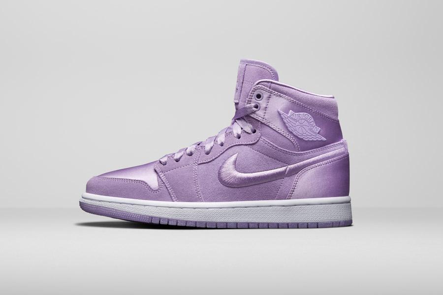 Nike Air Jordan 1 Retro High — kotníkové boty — dámské tenisky — růžové, fialové — women's sneakers — pink, purple