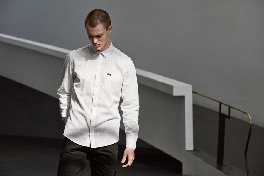 Makia — pánská košile s dlouhým rukávem — bílá — jaro 2018 — pánské oblečení