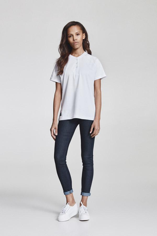 Makia — dámské tričko s knoflíčky — bílé — jaro 2018 — dámské oblečení
