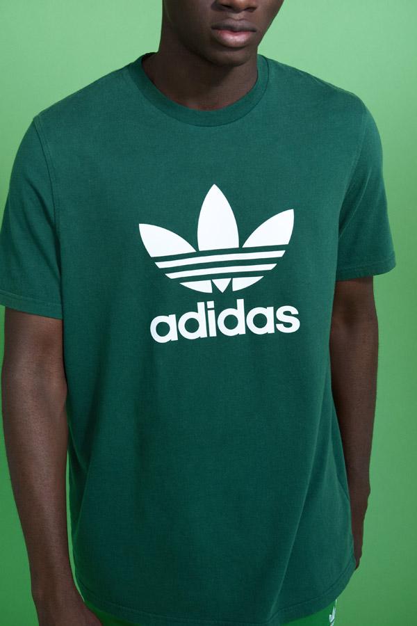 adidas Originals adicolor — pánské zelené tričko — men's green t-shirt — sportovní oblečení — jaro/léto 2018 — spring/summer — sportswear