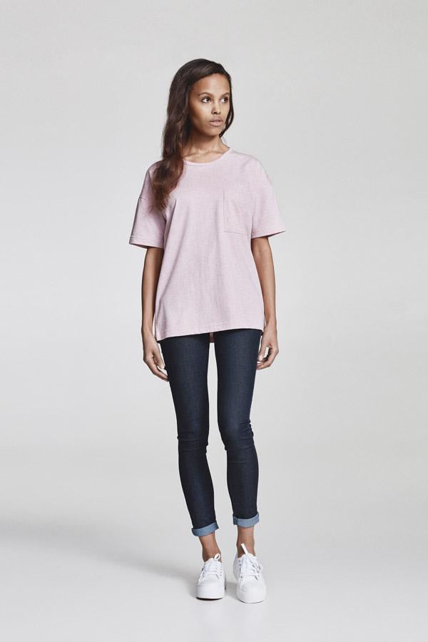 Makia — dámské tričko s kapsičkou — růžové — jaro 2018 — dámské oblečení