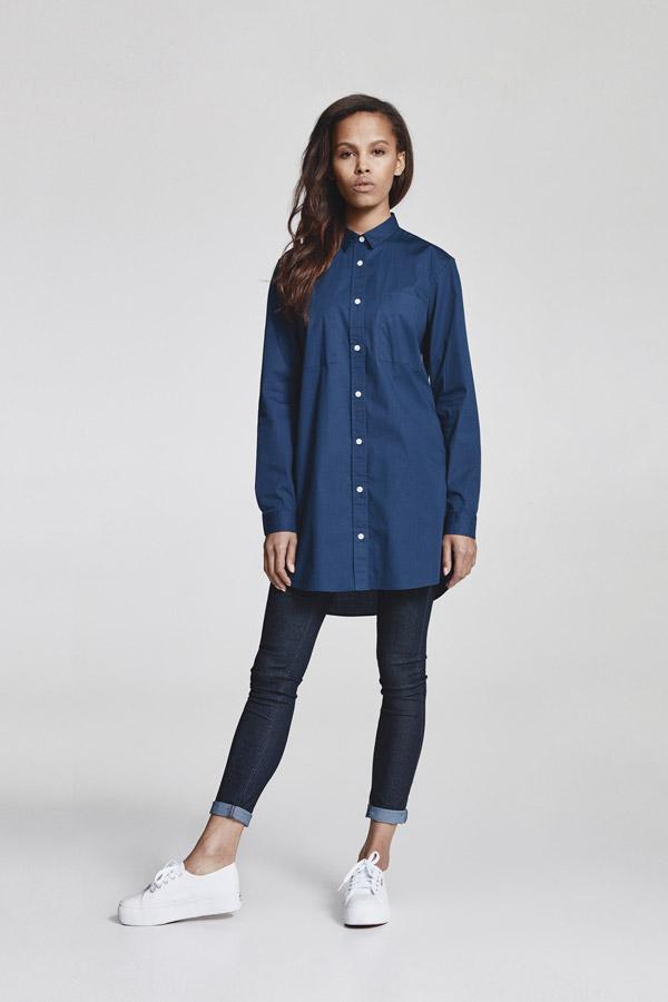 Makia — dlouhá dámská košile s dlouhými rukávy — modrá — jaro 2018 — dámské oblečení