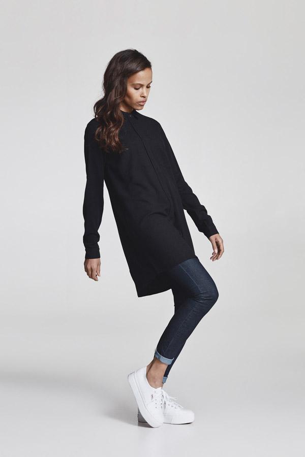 Makia — dámská dlouhá košile s dlouhým rukávem — černá — jaro 2018 — dámské oblečení
