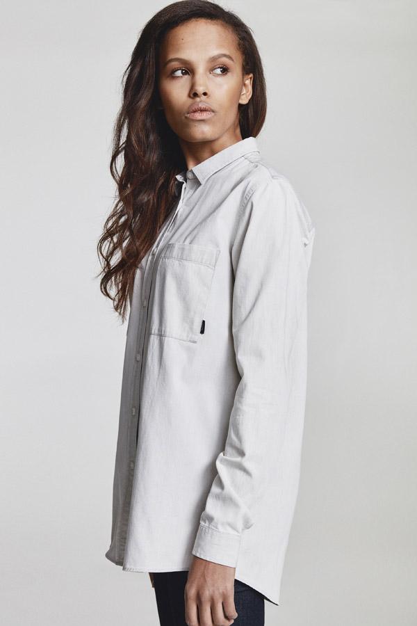 Makia — dámská košile s dlouhými rukávy — bílá — jaro 2018 — dámské oblečení