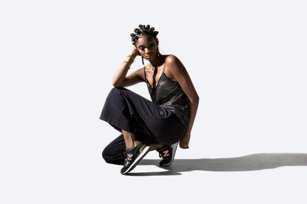 New Balance 574 — dámské tenisky s třpytkami — boty s třpytkami — černé — Glitter Pack — women's black sneakers — Glitter Pack