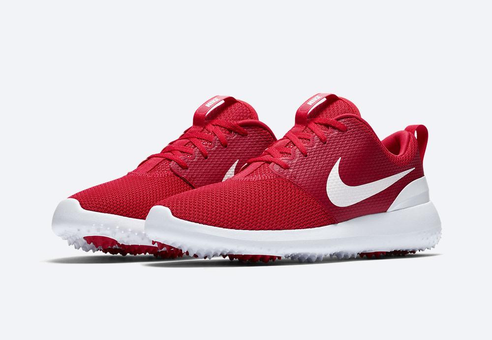 Nike Roshe G — golfové boty — pánské — červené — golfová obuv — golf shoes