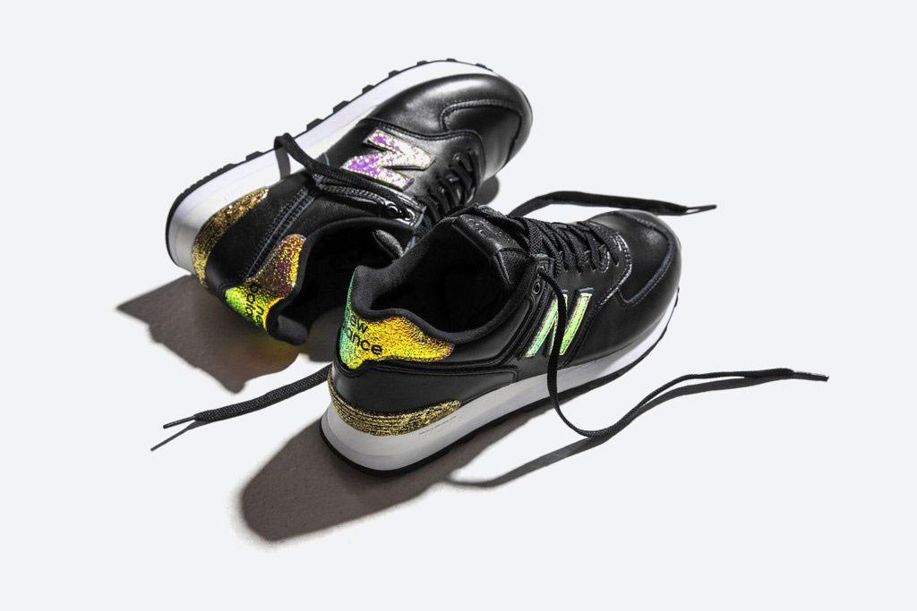 New Balance 574 — dámské boty s třpytkami — černé tenisky — — Glitter Pack — women's black sneakers — Glitter Pack