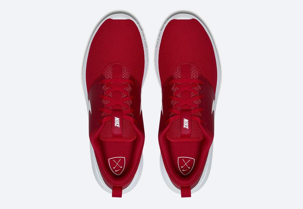 Nike Roshe G — golfové boty — pánské — červené — golfová obuv — horní pohled — golf shoes