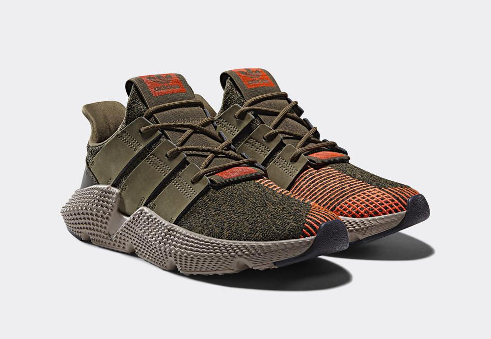 adidas Originals Prophere — boty — tenisky — pánské, dámské — olivově zelené — sneakers — shoes — men's, women's