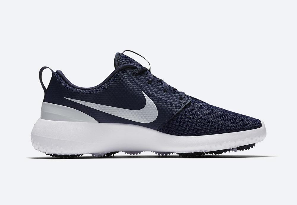 Nike Roshe G — golfové boty — pánské — modré — golfová obuv — vnitřní pohled — golf shoes