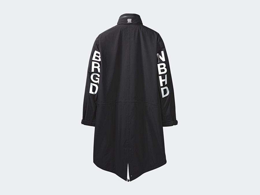 adidas Originals x Neighborhood — M-51 — dlouhá černá parka s kapucí — black parka