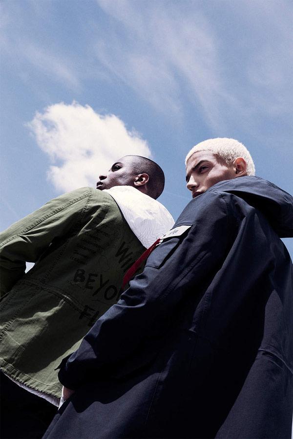 Alpha Industries — pánská zelená bunda — pánský modrý kabát — men's green jacket — jaro/léto 2018