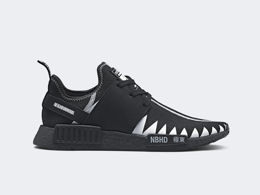 adidas Originals x Neighborhood — NMD_R1_PK — černé tenisky — boty — pánské, dámské — black sneakers, shoes