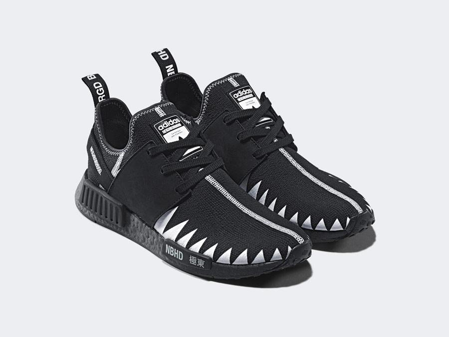 adidas Originals x Neighborhood — NMD_R1_PK — černé boty — tenisky — pánské, dámské — black sneakers, shoes