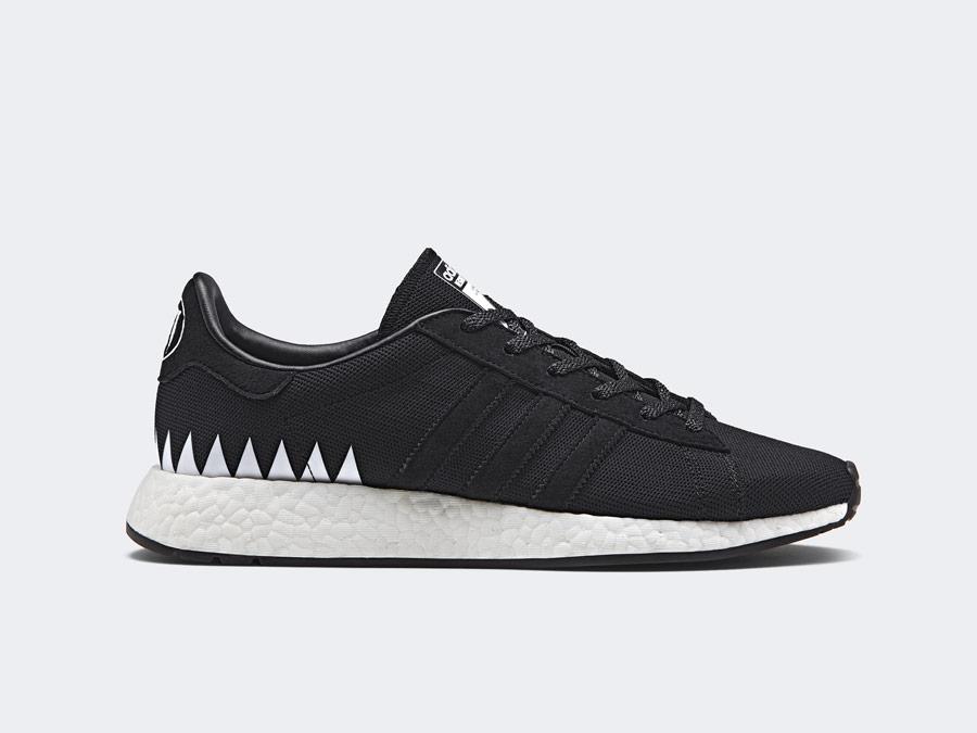 adidas Originals x Neighborhood — Chop Shop — černé tenisky — boty — pánské, dámské — black sneakers, shoes