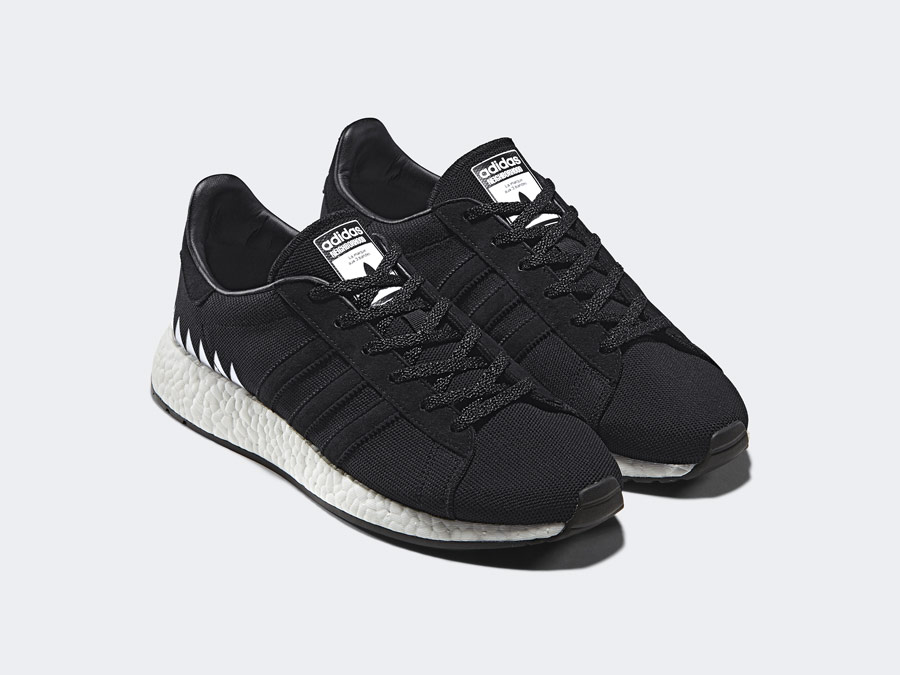 adidas Originals x Neighborhood — Chop Shop — černé boty — tenisky — pánské, dámské — black sneakers, shoes