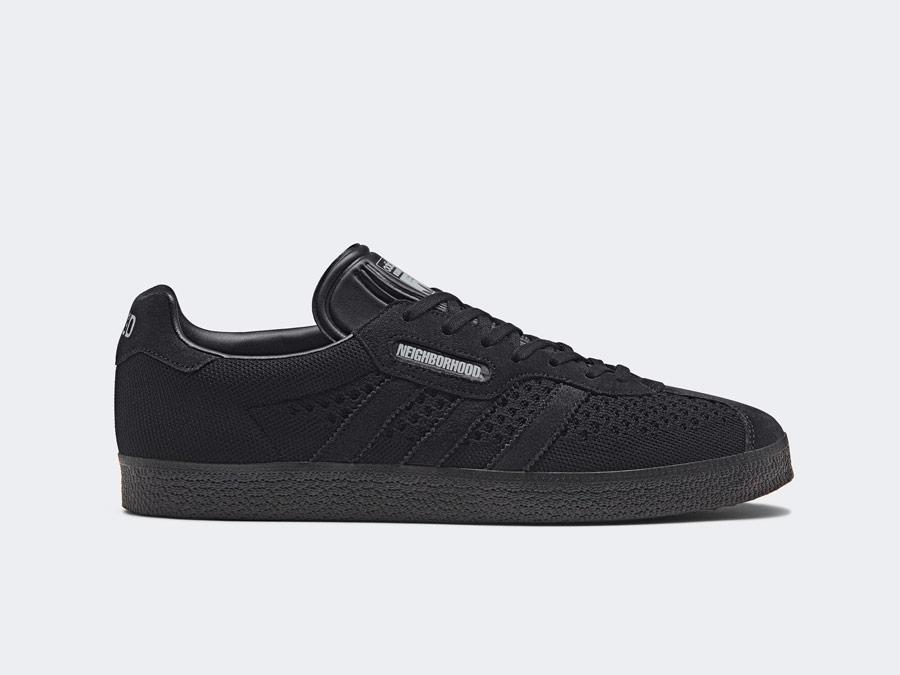 adidas Originals x Neighborhood — Gazelle Super — černé tenisky — boty — pánské, dámské — black sneakers, shoes
