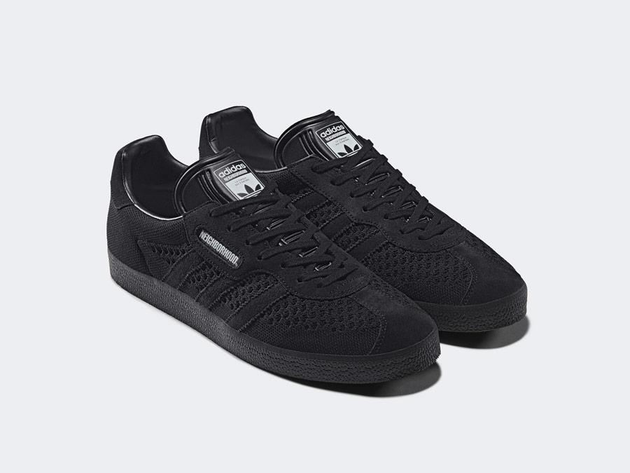 adidas Originals x Neighborhood — Gazelle Super — černé boty — tenisky — pánské, dámské — black sneakers, shoes
