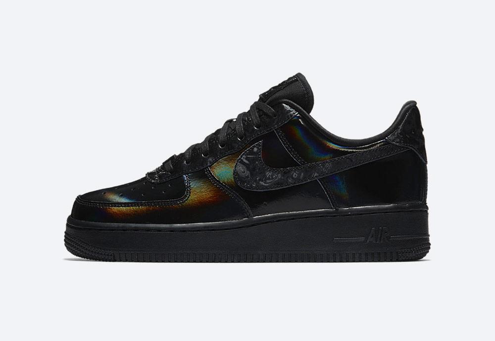 Nike Air Force 1 Low Black Summit White — černé boty — tenisky — dámské — duhové — womens sneakers