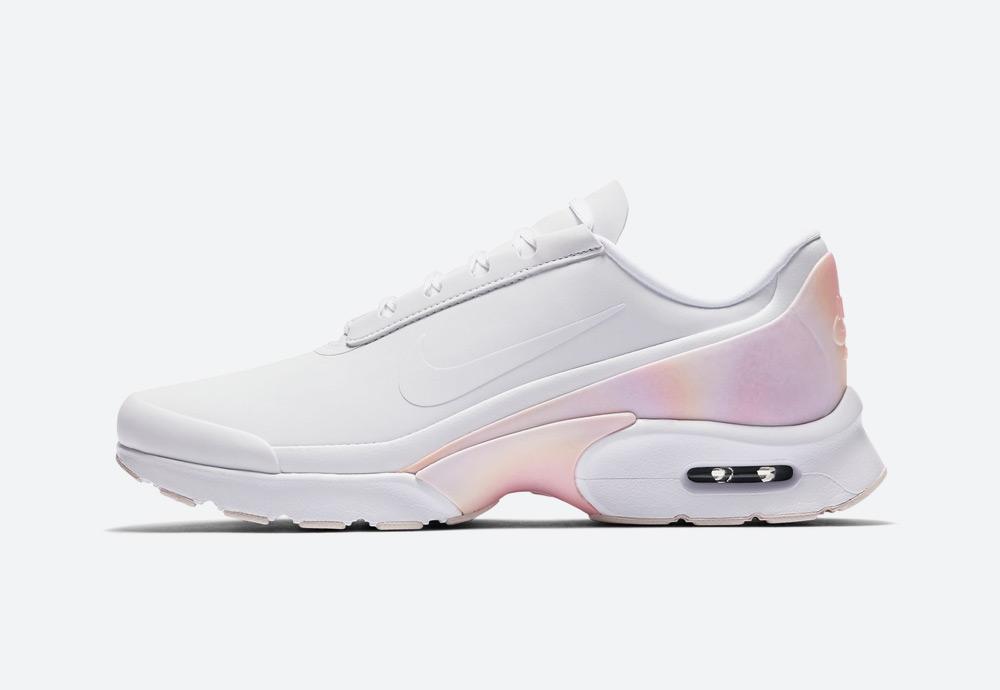 Nike Air Max Jewell Premium — dámské boty — tenisky — bílé, růžovo-oranžové — womens sneakers, shoes