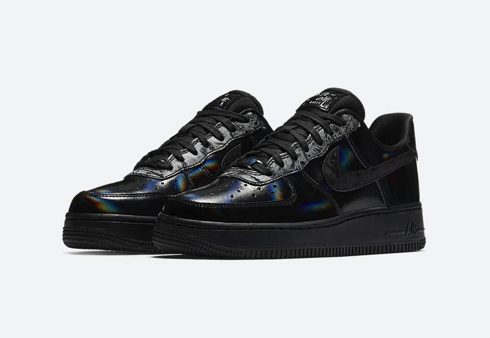 Nike Air Force 1 Low Black Summit White — černé tenisky — boty — dámské — duhové — womens sneakers