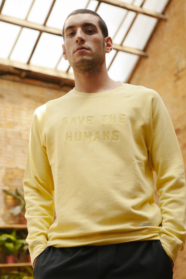 Thinking MU — pánská mikina — žlutá — sustainable fashion — udržitelná móda — jaro/léto 2018