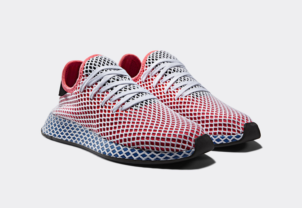 adidas Originals Deerupt — boty — tenisky — pánské — dámské — červené — sneakers — shoes — mens — womens