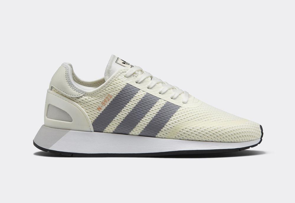 adidas Originals N-5923 — pánské boty — tenisky — smetanově bílé — mens sneakers, shoes — Street Pack