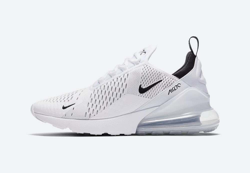 Nike Air Max 270 — boty — tenisky — pánské, dámské — Airmaxy — bílé — men's and women's sneakers — white