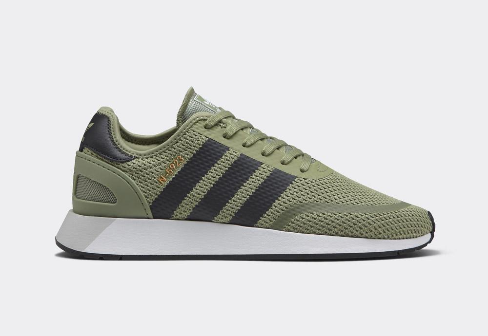 adidas Originals N-5923 — pánské boty — tenisky — olivově zelené — mens sneakers, shoes — Street Pack