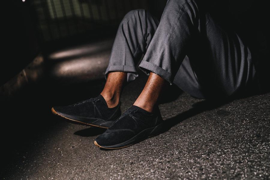 ARKK Copenhagen — Eaglezero Suede — boty — tenisky — černé — pánské, dámské — mens and womens sneakers — black