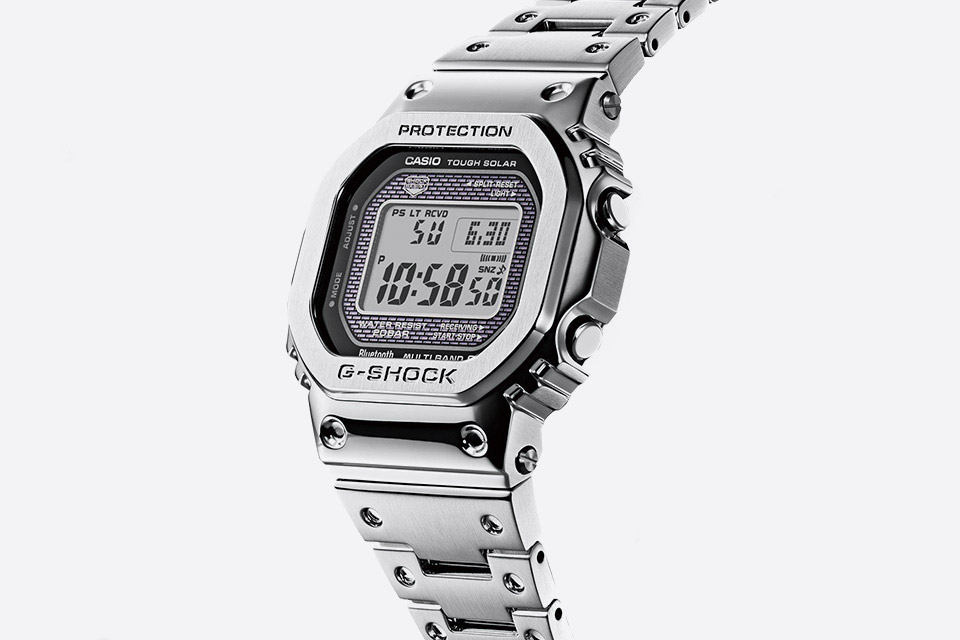 Casio G-shock — GMW-B5000D — stříbrné hodinky — digitální, náramkové — pánské, dámské — watches