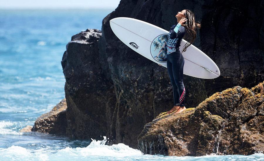 Roxy — Pop Surf — dámská surfařská kombinéza na zip — modrá — chest zip wetsuit