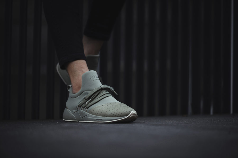 ARKK Copenhagen — Raven Nubuck — boty — tenisky — zelené — pánské, dámské — mens and womens sneakers — army green creme