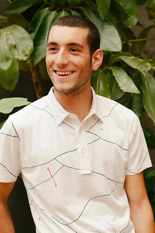 Thinking MU — pánské polo, tričko s límečkem — bílé — pánská bílá polokošile — sustainable fashion — udržitelná móda — jaro/léto 2018