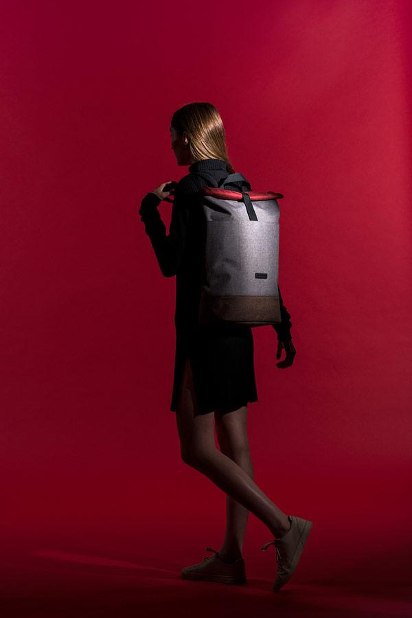 Ucon Acrobatics — šedý batoh z PET lahví — Tajo Backpack — waterproof, vegan, sustainable, urban — jaro/léto 2018