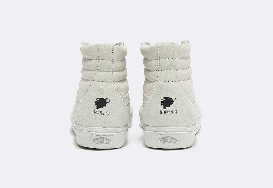 Vans x Rains — Sk8-Hi Lite — kotníkové boty — bílé — dámské — pánské — tenisky — white sneakers, shoes