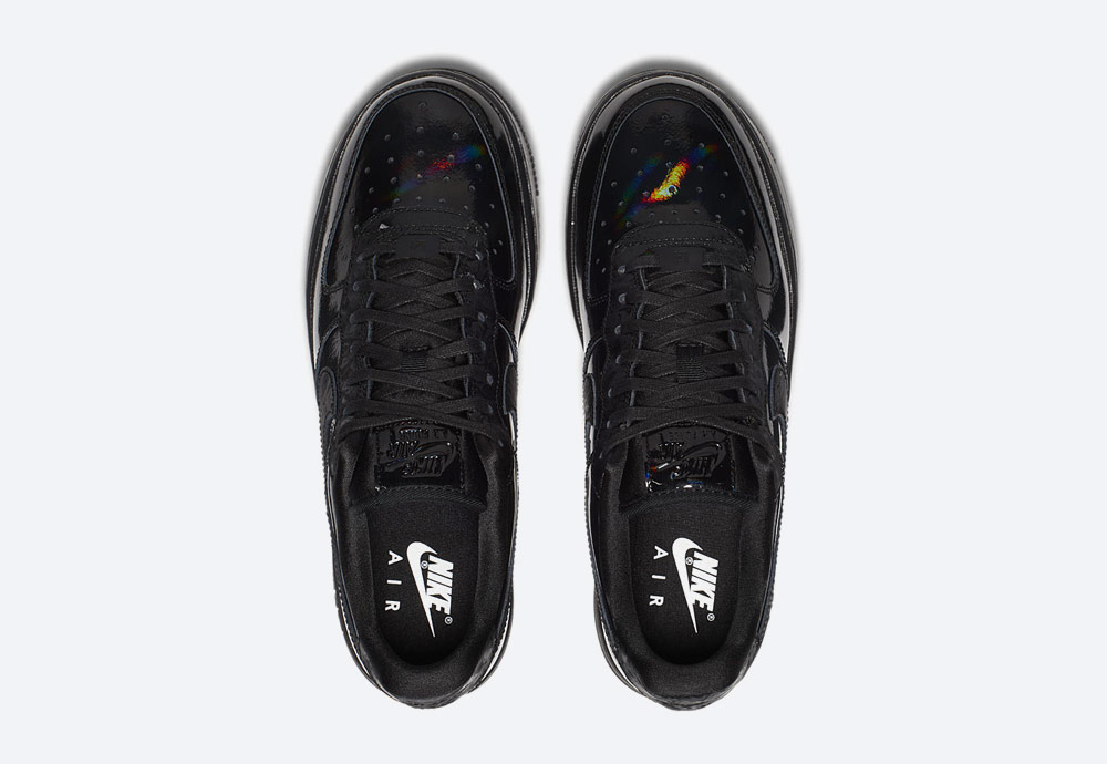 Nike Air Force 1 Low Black Summit White — horní pohled