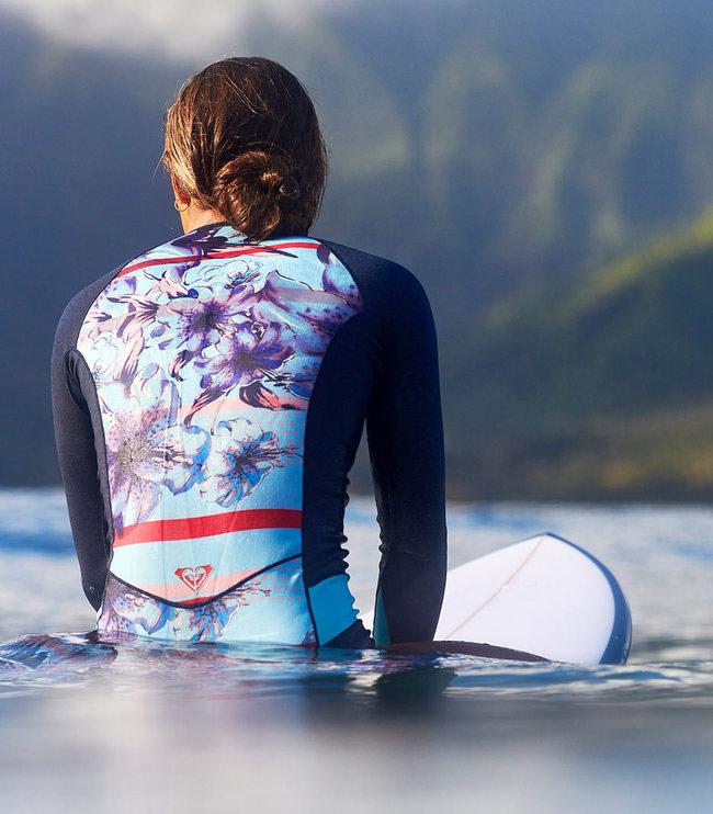 Roxy — Pop Surf — dámská surfařská kombinéza s dlouhým rukávem — modrá — springsuit — swimwear