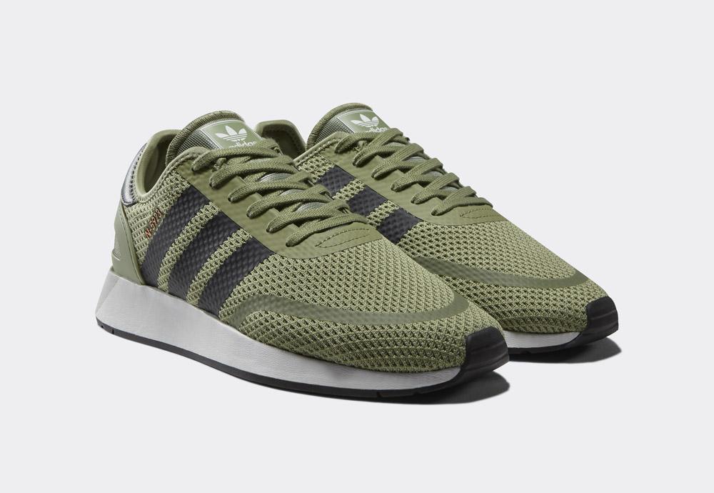 adidas Originals N-5923 — pánské boty — boty — olivově zelené — mens sneakers, shoes — Street Pack