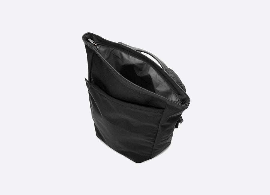 Opposethis — Invisible Backpack One — black — černý batoh — voděodolný — nepromokavý